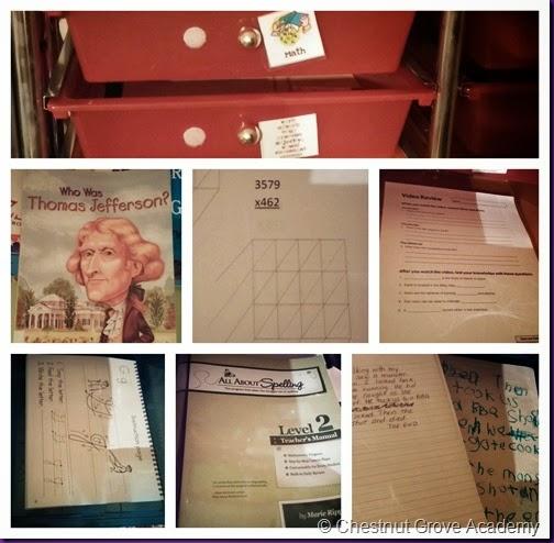 Third Grade Workboxes
