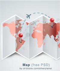 13 vectores de diseños de mapas para descargar