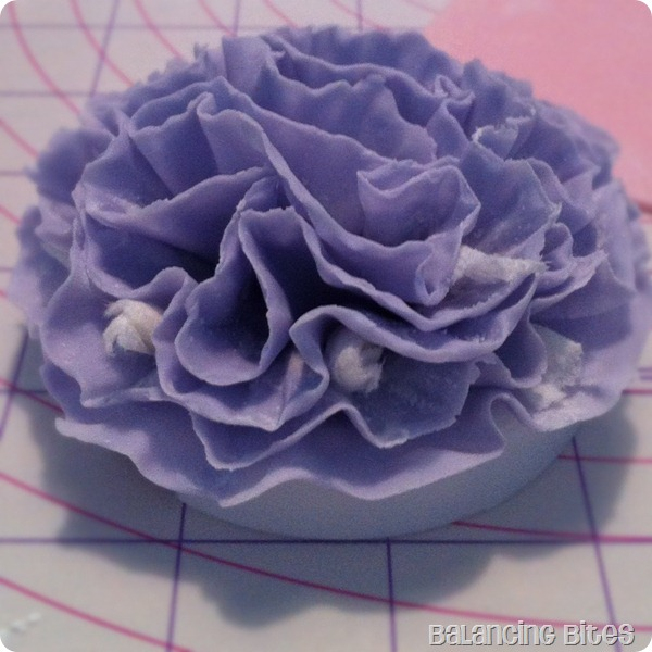 Purple Ruffled Gum Paste Flower 2