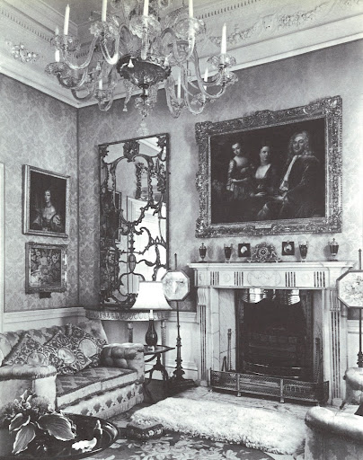 Love that mirror, held within the Yellow Drawing Room at the Birr Castle, and made out of a Dublin brass gate.