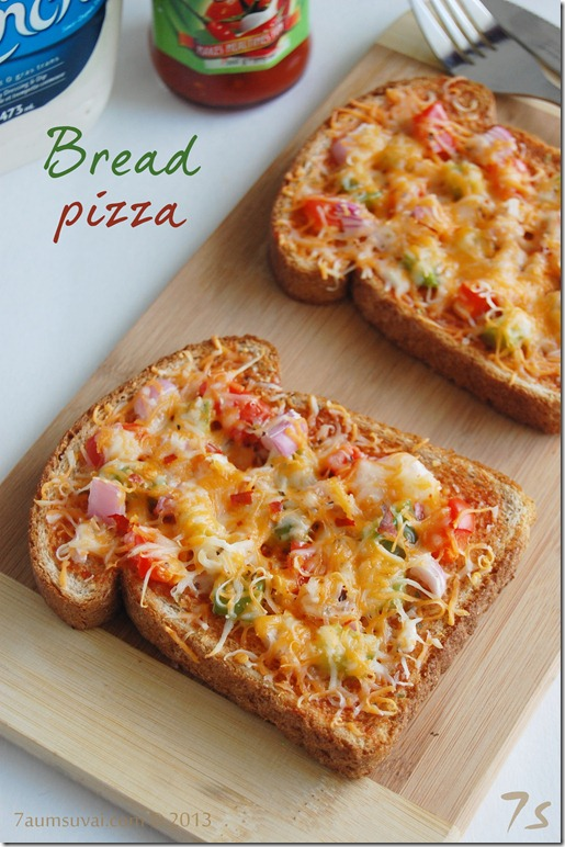 Bread pizza | 7aum Suvai