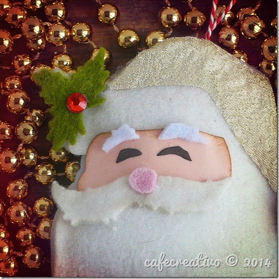 cafecreativo - sizzix big shot - christmas - ornament - santa