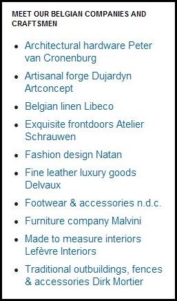 Belgian craftsmen