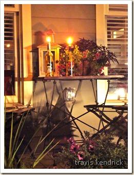 T & R lanterns on table
