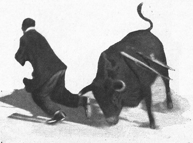 1909-06-17 (Los Toros) espectadores en el ruedo 01 Otro toreando