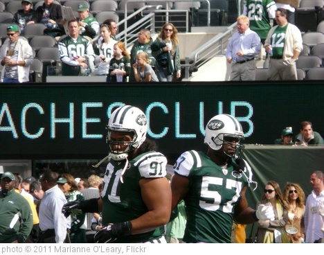 'New York Jets Linebacker Bart Scott and Defensive Tackle Sione Pouha' photo (c) 2011, Marianne O'Leary - license: http://creativecommons.org/licenses/by/2.0/