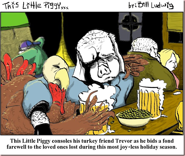 Piggy Turkey Mourn