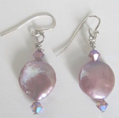 earrings mauve pearls w crystals bloggiveaway 6