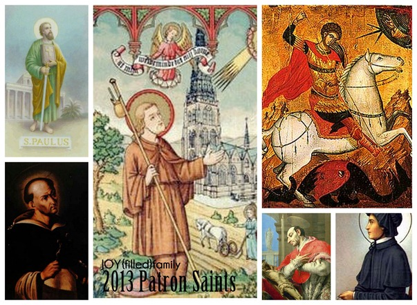 2013 Family Patron Saints