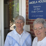 Sr. Rita and Sr. Julia Marie at Angela House