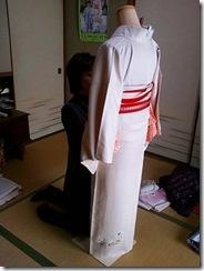 美容師さんの着付け練習 (2)