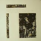 Forêt noire , texte poétique et gravures sur lino de Monique Ariello-Laugier