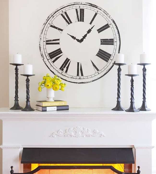 Five ways to style a mantel a thoughtful place for Wall clock decorating ideas