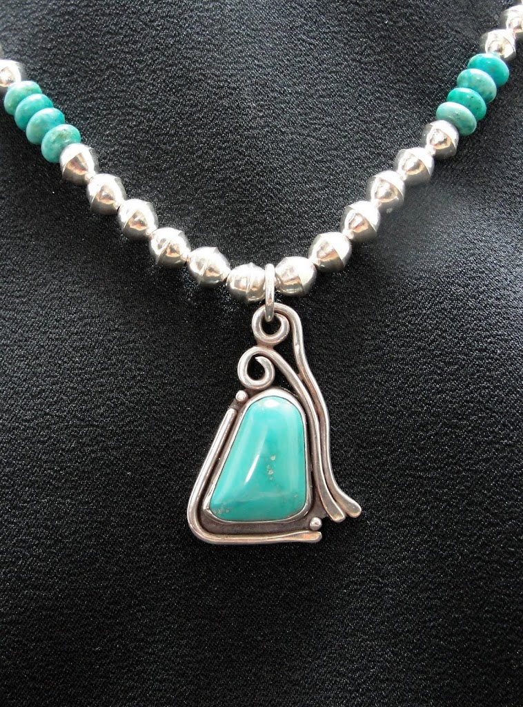 Turquoise Pendant Makeover.....Sold