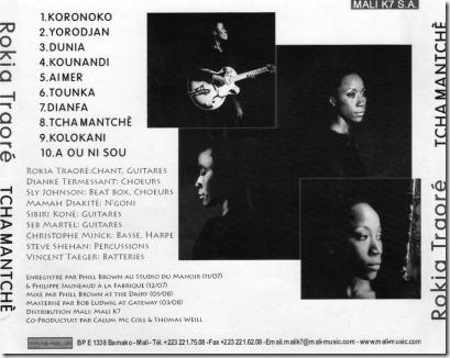 Rokia Traoré -2008-Tchamantché