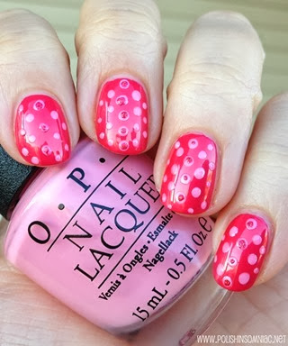 polish insomniac opi minnie mouse nail art 1 3