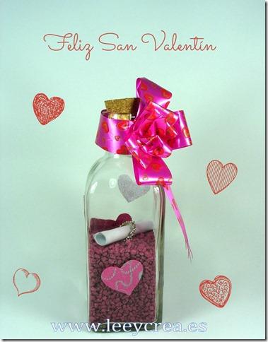 Botella San Valentín
