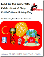 Winter Holiday Show - Free Script - Including information on using light as a symbol in the holidays of Christmas, Haunakkah, Kwanza, Diwali, Ramadan, St. Martin's Day, St. Lucia's Day and New Years