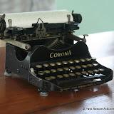 Sa machine à écrire