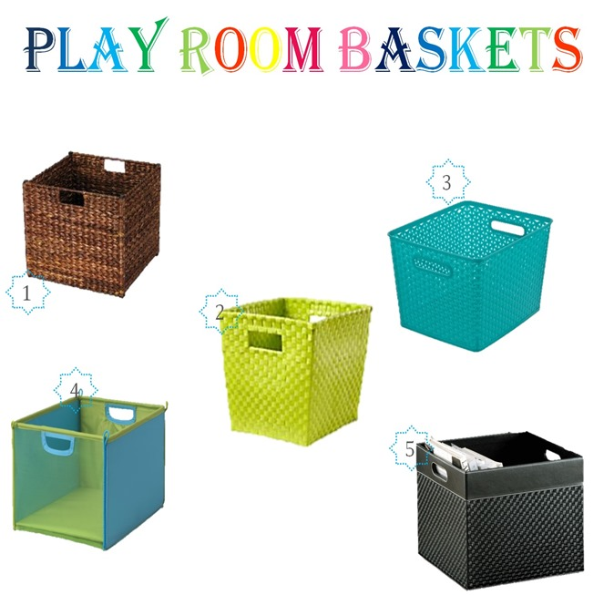 play room baskests