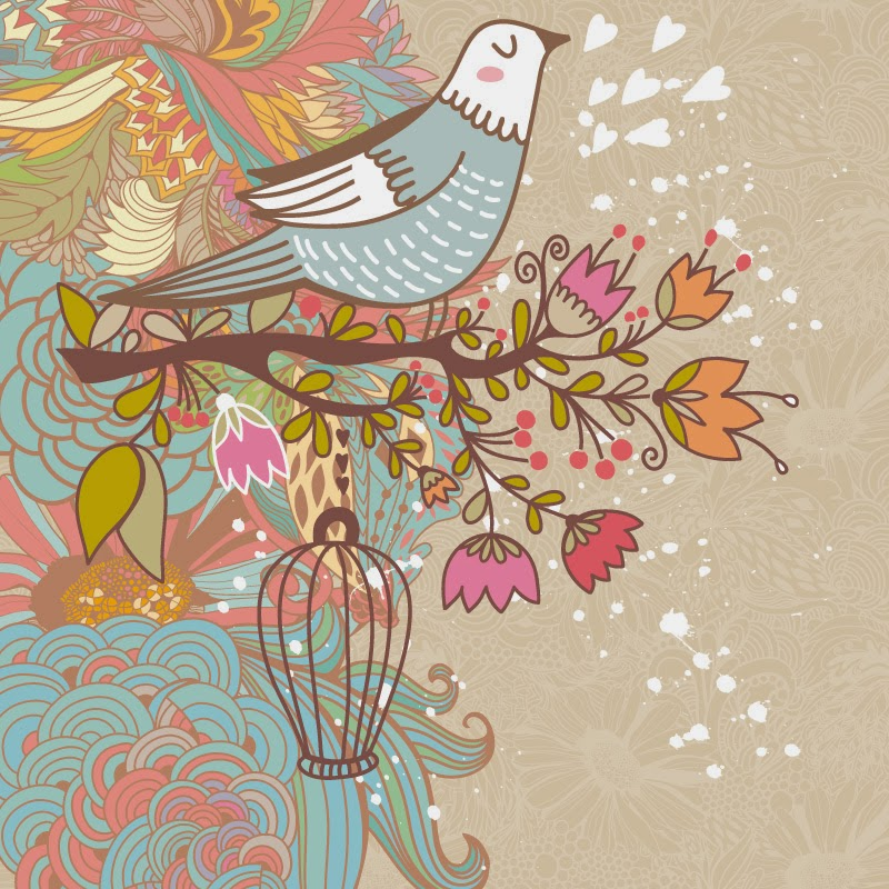 Bird background beige