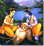 [Rama and Lakshmana with Jatayu]