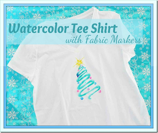 Watercolor Tee with Markers