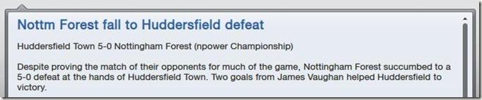 Vs Huddersfield