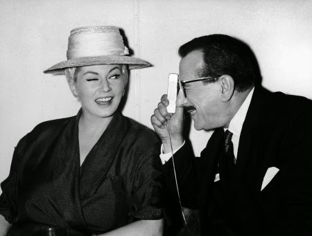 Italy Rome Anita Ekberg and Peppino de Filippo