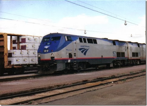 Amtrak P42DC #152 in Havre, Montana in May 2003
