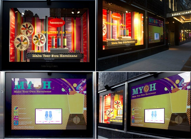 vitrine havaianas new york 2 interativa