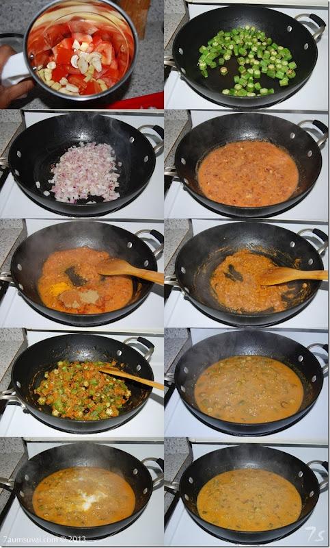 dahi bhindi process