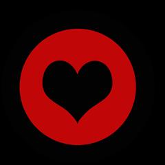 cupcake topper valentines day hjerte rød