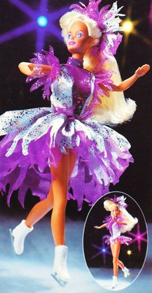 Barbie Ice Capades Dazzling Star 1990 Purple (1990)