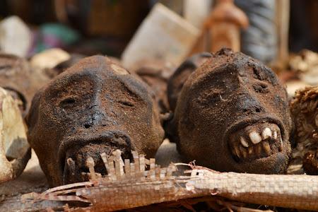 1. Piata de fetisuri Vogan - capete de maimute.JPG
