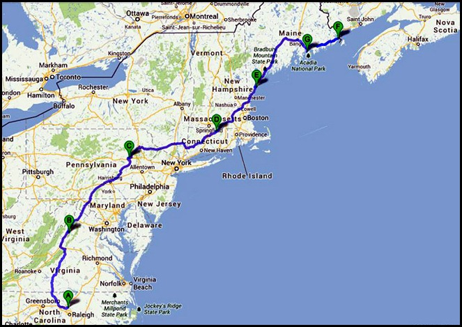 0 - Travel to Narrows Too CP - Trenton, ME  86 miles