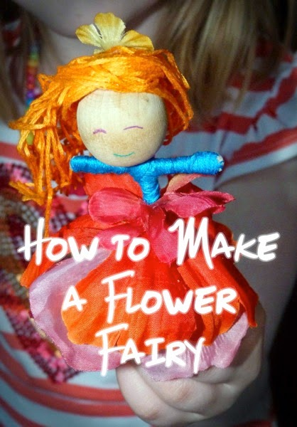 How to Make a Flower Fairy from Blue Bells and Cockle Shells