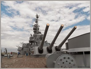 """BIG GUNS"" aft of USS Alabama"