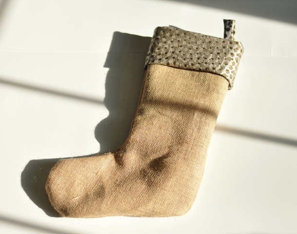 Burlap Stocking Tutorial from Decor and the Dog