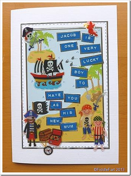 Adoption Card Pirate Theme