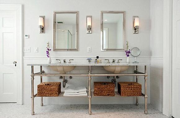 Iluminacion Baño Moderno:Candelabros elegantes baños