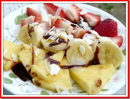 trop fruit plate
