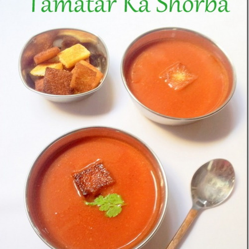 Tamatar Ka Shorba | Tomato Soup with spices Indian Style | Oil Free Cooking