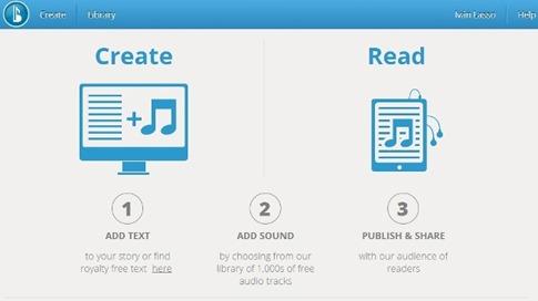 Crear libros musicales con Booktrack Studio