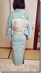 着物でお嬢様の入学式に (2)