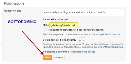 redirect-blog-sottodominio-blogger