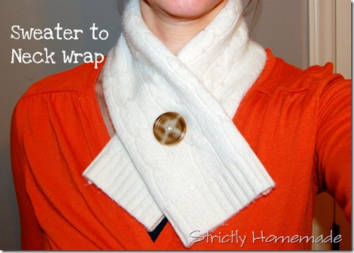 Sweater to neck wrap