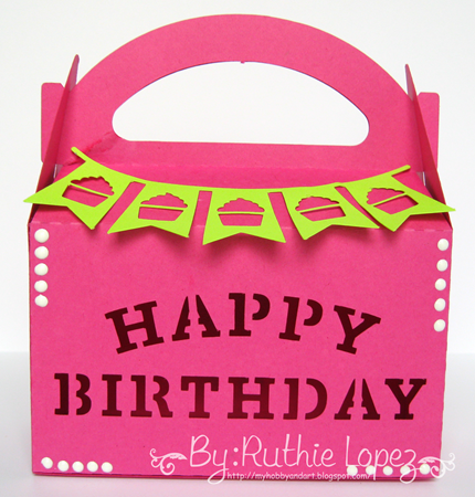 Inky Impressions - Birthday - Treat box - Ruthie Lopez DT 1