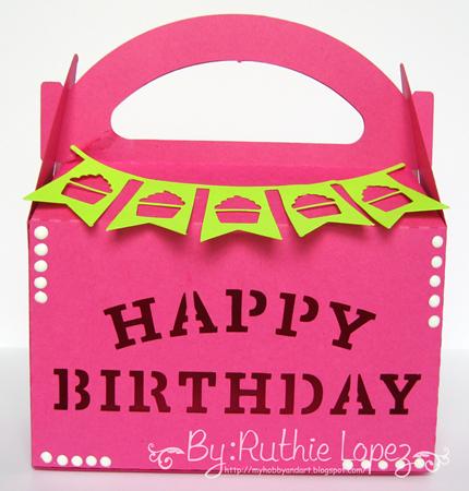 Inky Impressions - Birthday - Treat box - Ruthie Lopez DT 1