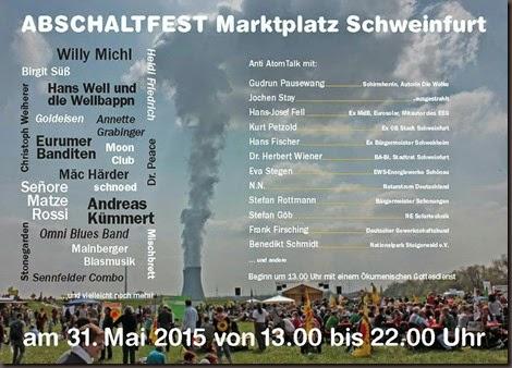 Flyer AbschaltFest 2 Entwurf Werner Enke, Klick zum Vergrößern